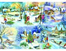 The House Of Puzzles - 500 BIG PIECE JIGSAW PUZZLE - Snowy Afternoon Big Pieces