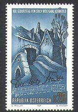 Austria 1997 Korngold/Music/Composers/Opera/People/Entertainment 1v (n37959)