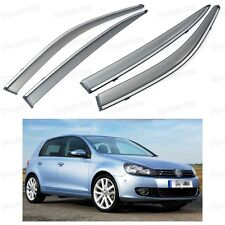 4Pcs Window Visor Vent Shade Rain/Sun Guard Deflector for VW GOLF MK6 2009-2012