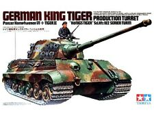"TAMIYA WWII German King Tiger ""Production Turret"" Model Kit 1/35"