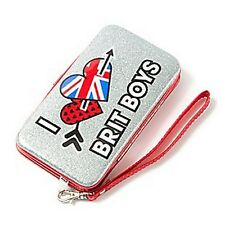 """Glitter """"I Love Brit Boys"""" Smartphone Wristlet iPhone 5 and 5s One Direction-NEW"""