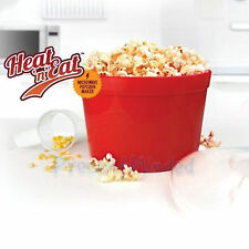 Heat N Eat Microwave Popcorn Maker Cooker Machine Retro Tub For Films and Movies
