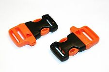 2x ITW Nexus 20mm Side Release Buckle with built in Emergency Whistle, Rescue.