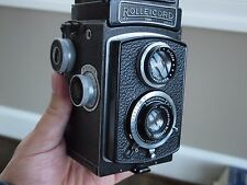 Sale: Vintage Rolleiflex Rolleicord 6x6 120 TLR camera +Zeiss lens, Yashica 124G