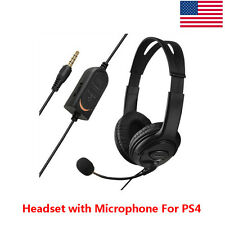 BIG Wired Game Headset Headphones with Microphone for Sony PlayStation 4 PS4 New
