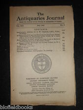 THE ANTIQUARIES JOURNAL - 1941 - Vol 21/Pt 3 - Thame (Oxfordshire) Gold Rings