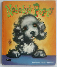 Tell a Tale Book NOBODY'S PUPPY Florence Sarah Winship NEW Old Stock Vintage HB