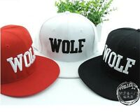 Wolf Snapback Flat Along The Hat Baseball Cap Hip-hop Bone Exo flat peak Peaked