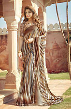 Sarees bollywood Georgette Saree with Designer Border Casual Wear sarees new