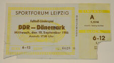OLD TICKET * East Germany DDR - Denmark in Leipzig