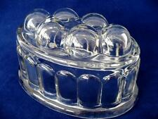 Quality Vintage / Retro 1950's Pressed Glass Jelly Mould / Retro kitchenalia