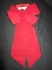 """Large Red Velvet 4"""" Wide Ribbon Christmas Bow Wreath Fence Mailbox Holiday"""