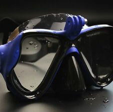 Blue Diving Mask Scuba Snorkel Goggles Face Glasses Mount for GoPro Hero 33+42 1