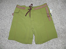VAST MENS BOARD SHORTS SIZE 34 STYLE 02AB042B COLOR MOSS GREEN NWT