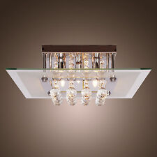 Modern Crystal LED Ceiling Light Pendant Lamp Fixture Lighting Chandelier US
