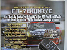 YAESU FT-7800R/E (GENUINE LEAFLET ONLY)............RADIO_TRADER_IRELAND.