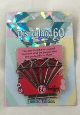 2015 Disneyland 60th Anniversary Diamond Pin #107709 Red Pink Disney LE Limited