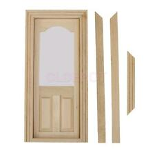 1:12 Scale Interal Wooden Door & Frame Dolls House Miniature DIY Accessory