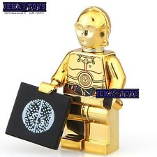 Star Wars C-3PO Chrome Gold Minifigures Compatible With Lego Toy Best Gift NEW!