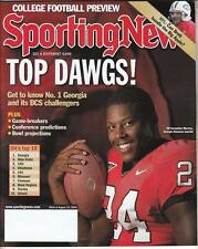KNOWSHON MORENO Sporting News Magazine Aug 2008 UGA Georgia Bulldogs NR MT