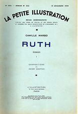 LA PETITE ILLUSTRATION N° 653 - RUTH T1, par Camille MARBO - 1933