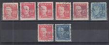 Sweden Sc 139-143 used 1920-1921 King Gustav V definitives, Sound & Almost VF
