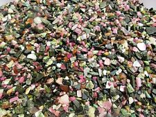 TOURMALINE MIX 5-12mm tumbled 1/2lb bulk stones green black pink / Wholesale