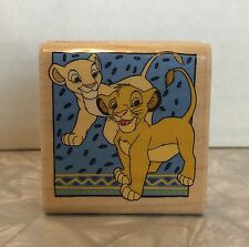 Young Simba & Nala Rubber Stamp The Lion King A455C Disney Rubber Stampede