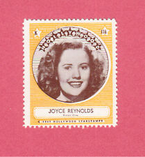 Joyce Reynolds Movie Film Star 1947 Hollywood Sticker Stamp