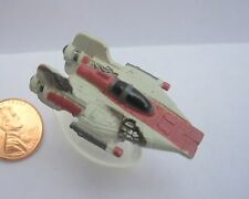 Star Wars Micro Machines A-WING STARFIGHTER BATTLE DAMAGED with stand