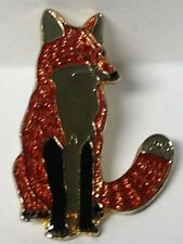 FOX LAPEL PIN HAT TAC NEW