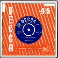 """Acrylic Coaster Drink Beer Mat 4""""x 4"""" Repro Record Sleeve Personalised by U D1"""