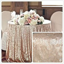 72'' Round Champagne Sequin Tablecloth,wholesale Wedding Beautiful Sequin Table