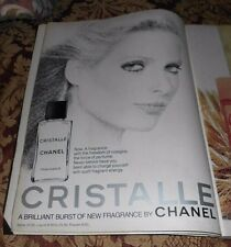 1977 Near Mint Print Ad Poster Cristalle Fragrance by Chanel Woman Sketch