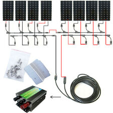1200W Solar COMPLETE System Kit:8x 160W Mono Solar Panel for 24V RV Boat Charger