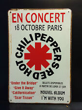 RED HOT CHILI PEPPERS FRENCH CONCERT VINTAGE METAL SIGN 20X30 CM AMERICAN ROCK