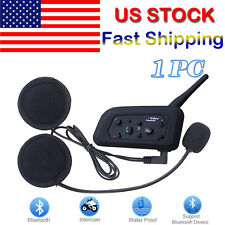 1200M Interphone Bluetooth BT Motorbike Motorcycle Helmet Intercom Headset Mic
