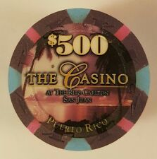 $ 500 ritz paulson the CASINO SAN JUAN poker chip rare mint unc