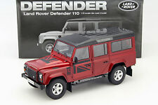 DORLOP - LAND ROVER DEFENDER 110 RHD FIRENZA RED COLOUR 1:18 SCALE.