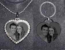 SPECIAL GIFT -PERSONALIZED HEART NECKLACE & KEYCHAIN- SHIP NEXT DAY