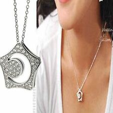 Hollowed Moon Crystal Stars Necklace Korean Drama Boys Love Token Gift