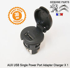 Peugeot 206 207 307 308 407 AUX USB Single Power Outlet Port Charger socket New
