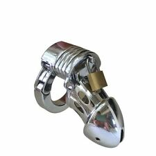 Male Chastity Device Chrome Plated Steel - metal bondage fetish CBT slave gay