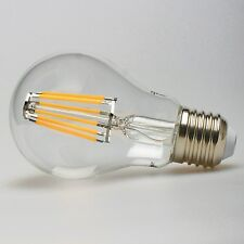 6 PACK LED FILAMENT LIGHT BULB - 8W = 60 watt A19 E26 WARM EDISON W SPOT UL