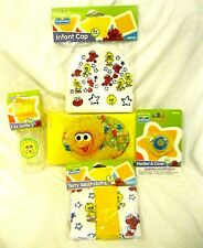 Sesame Street Big Bird Infant Cap,Bottle,Pacifier,Wipers Travel Case,Washclothes
