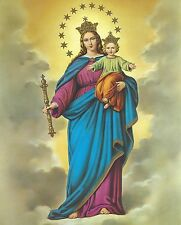 Catholic Print Picture OUR LADY HELP of CHRISTIANS Mary & Jesus 8x10""