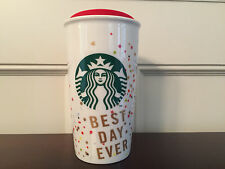 Starbucks Valentine's Day Best Day Ever Coffee Mug Travel Tumbler 12 fl oz - New