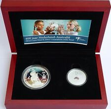 2006 $5 Silver Proof and 5 euro 2 coin Silver Proof set