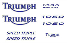 TRIUMPH SPEED TRIPLE 1050 blanche (2005-06) STICKER DECAL MOTO