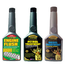 3Pack ENGINE FLUSH + GOLD FORMULA PETROL & DIESEL INJECTOR CLEANER FUEL ADDITIVE